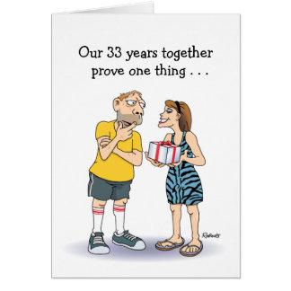 33rd Wedding Anniversary Card: Love Greeting Card