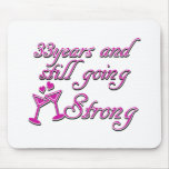 33rd wedding anniversary mouse pad