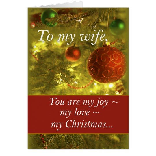 3400 Wife Golden Christmas Tree Card