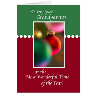 3407 Grandparents, Christmas Ornaments Greeting Card