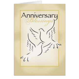 3424 Anniversary Blessings Greeting Cards