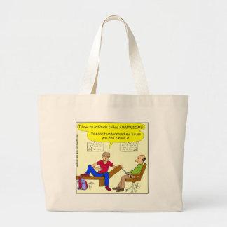342 Teens are awesome cartoon Jumbo Tote Bag