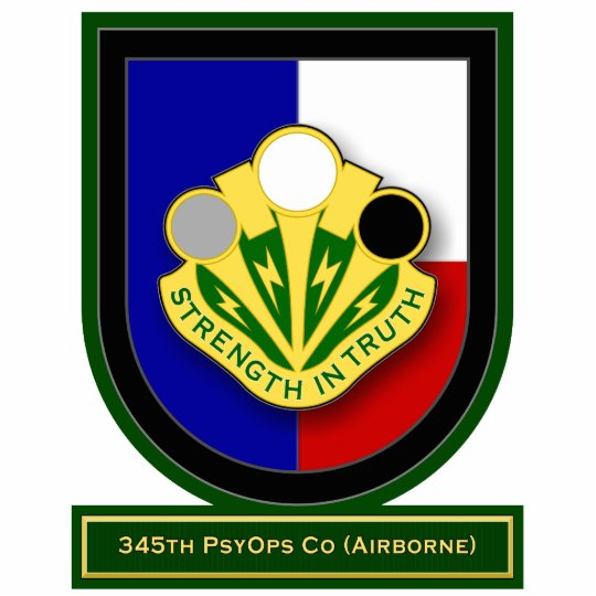 345th Psychological Operations Co - Airborne flash Standing Photo Sculpture