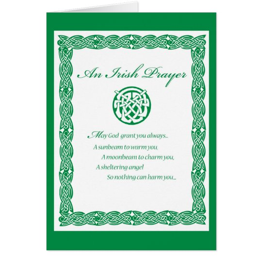 3489 St. Pat's Day IRISH PRAYER Card