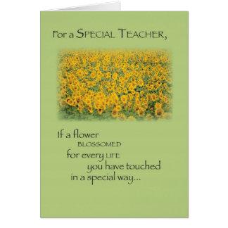 3496 Teacher Paradise Thank You Card