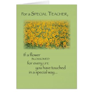 3496 Teacher Paradise Thank You Greeting Card
