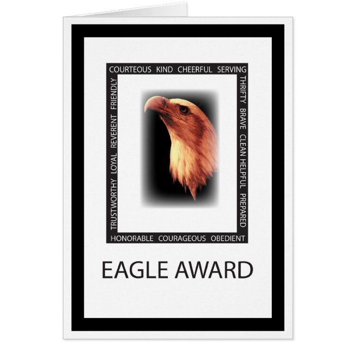 3499 Eagle Virtues Greeting Card