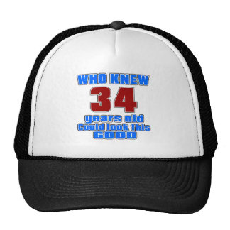 34 birthday designs cap