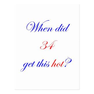 34 Hot Postcard
