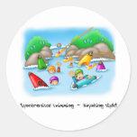 34_rescue classic round sticker