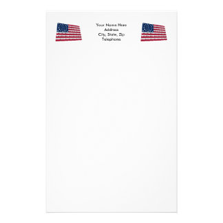 34-star flag, Wreath pattern, outliers Custom Stationery