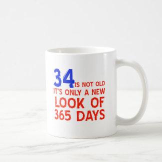 34 years Old birthday designs Basic White Mug