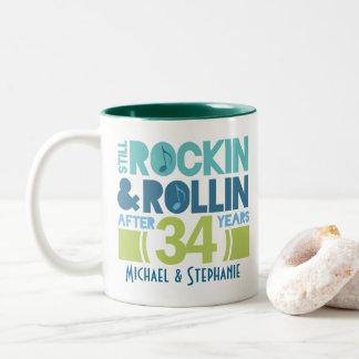 34th Anniversary Personalized Mug Gift