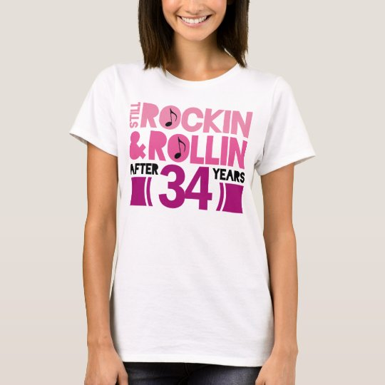 34th Anniversary Wedding Gift T-Shirt