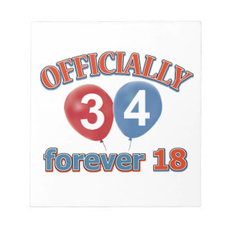 34th birthday designs notepad