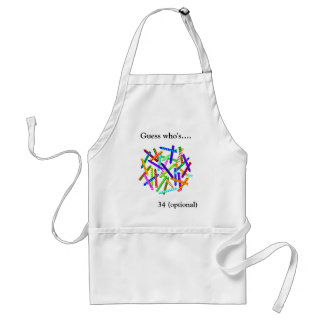 34th Birthday Gifts Standard Apron