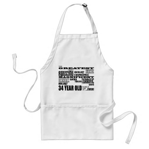 34th Birthday Party Greatest Thirty Four Year Old Aprons
