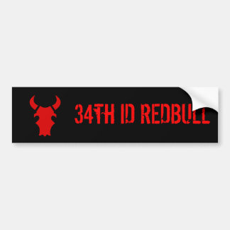 34th ID REDBULL Bumper Sticker