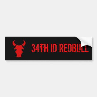 34th ID REDBULL Bumper Sticker