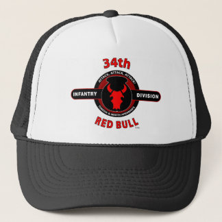 "34TH INFANTRY DIVISION"" RED BULL"" TRUCKER HAT"