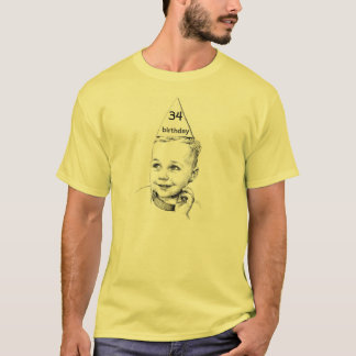 34th or 27th or 68th customizable birthday T-Shirt