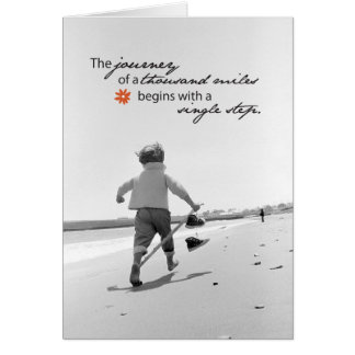 3509 Journey of Thousand Miles Support Greeting Card