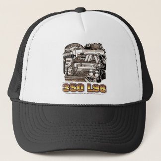 350 L98 Corvette Engine Trucker Hat