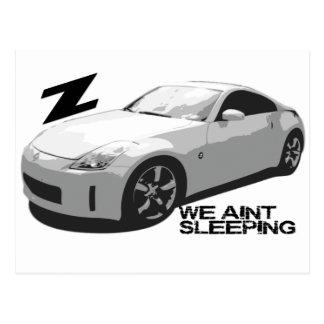 350Z Aint sleeping Postcard