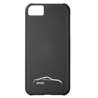 350Z White BruishstrokeLogo w/ Faux Carbon iPhone 5C Case