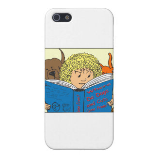 351 Where do dogs and cats come from color cartoon Case For iPhone 5