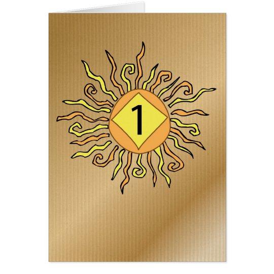 3526 Recovery 1 Year Anniversary Sun Card