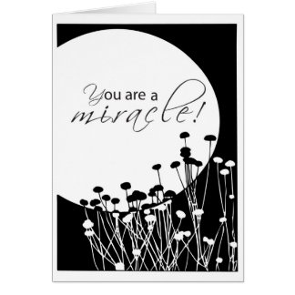3528 Step Recovery Birthday, Black, White Miracles Card
