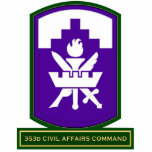353d Civil Affairs Command SSI Acrylic Cut Out