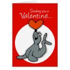 3569 Seal Valentine for Boy Card