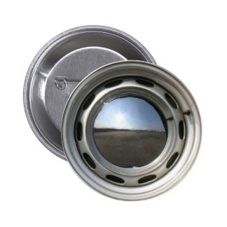 356 Classic car wheel (rim) with chrome hubcap 6 Cm Round Badge