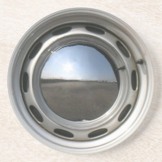 356 Classic car wheel (rim) with chrome hubcap Coaster