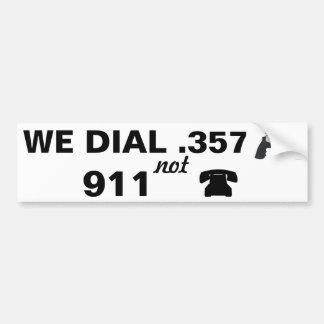 .357 beats 911 bumper sticker