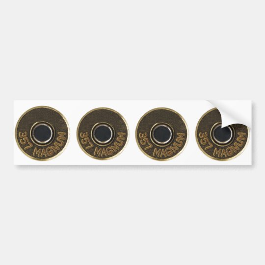 357 Magnum brass shell casing Bumper Sticker