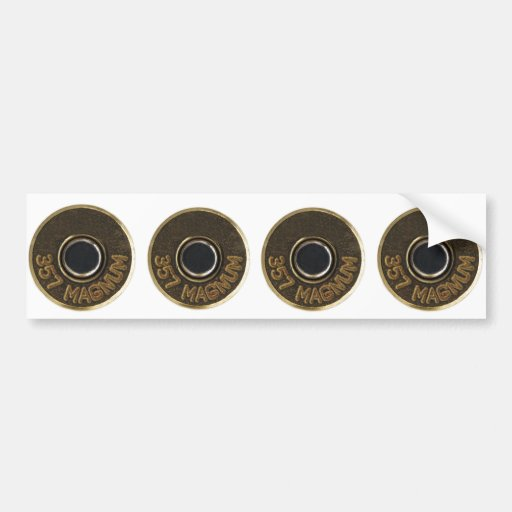 357 Magnum brass shell casing Car Bumper Sticker