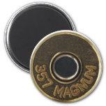 357 Magnum brass shell casing Refrigerator Magnets