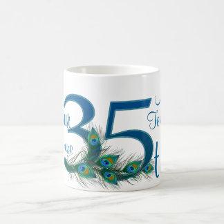 # 35 - 35th Wedding Anniversary or 35th Birthday Basic White Mug