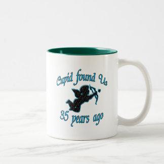35. Anniversary Two-Tone Coffee Mug