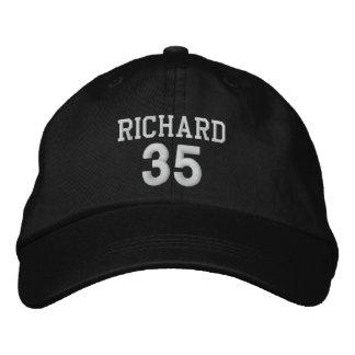 35 Birthday Custom Name WHITE Embroidery V03I Embroidered Baseball Cap