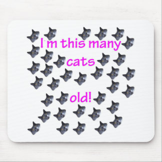35 Cat Heads Old Mouse Mat