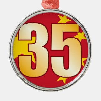 35 CHINA Gold Christmas Ornament