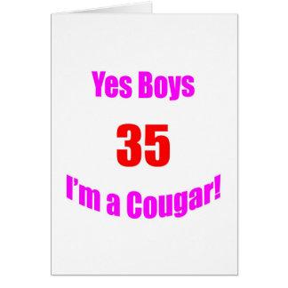 35 Cougar Birthday Card