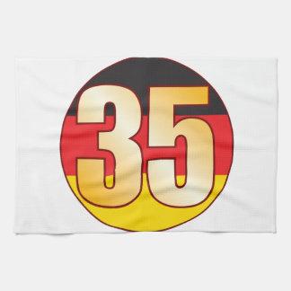 35 GERMANY Gold Tea Towels