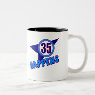 35 Happens 35th Birthday Gifts Mug