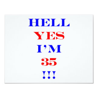 35 Hell yes Card