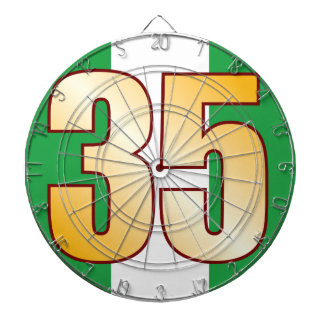 35 NIGERIA Gold Dartboard
